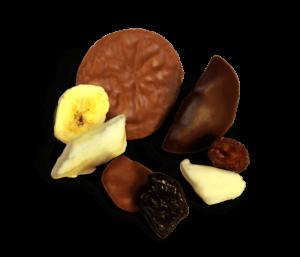 Exotische Schoko Früchte