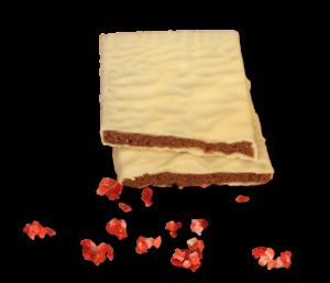 Erdbeere Sahnetrüffel in weißer SchokoldeS