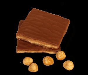 Schichtnougat Schokolade