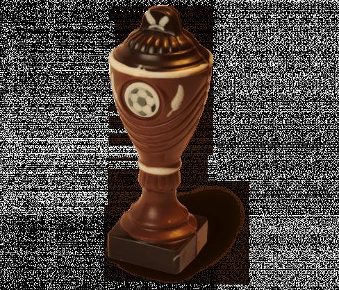 Fussball Pokal Aus Schokolade