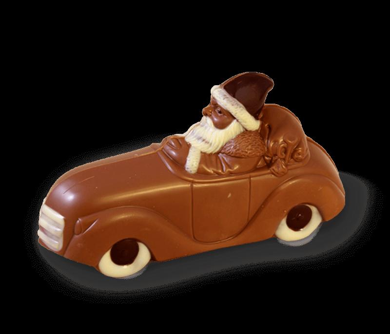Weihnachtsmann Mit Auto Confiserie Dengel