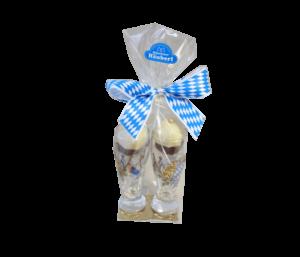 Weißbierglas mit Münchner Häuberl